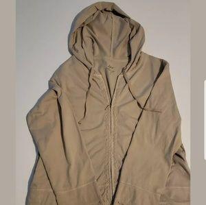 J. Jill Women's decorative beige Zip Up Hoodie